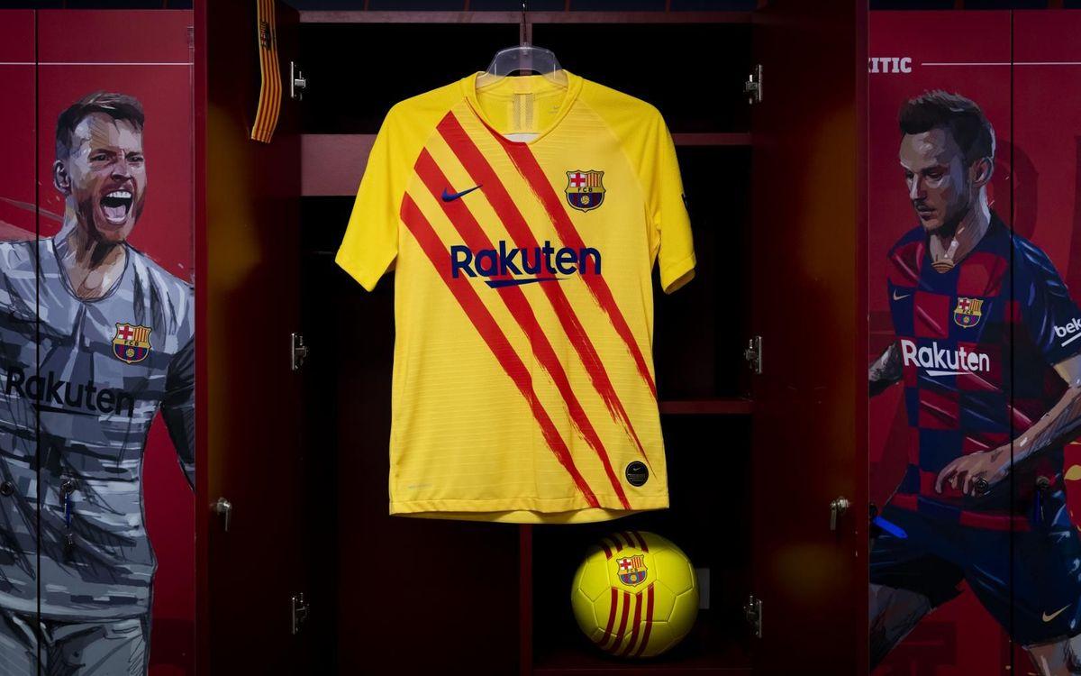 El Barça estrenarà l'equipació de la senyera al Wanda Metropolitano