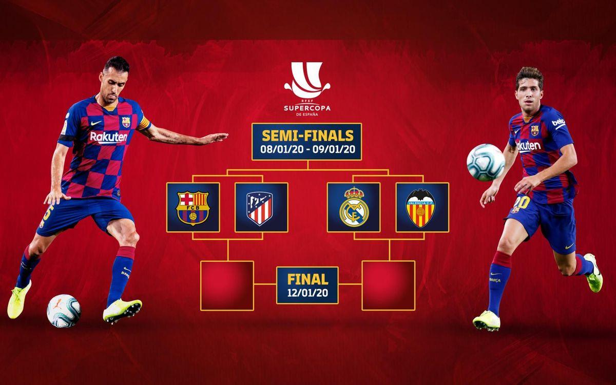 スペインスーパー杯準決勝対戦相手は、アトレティコ