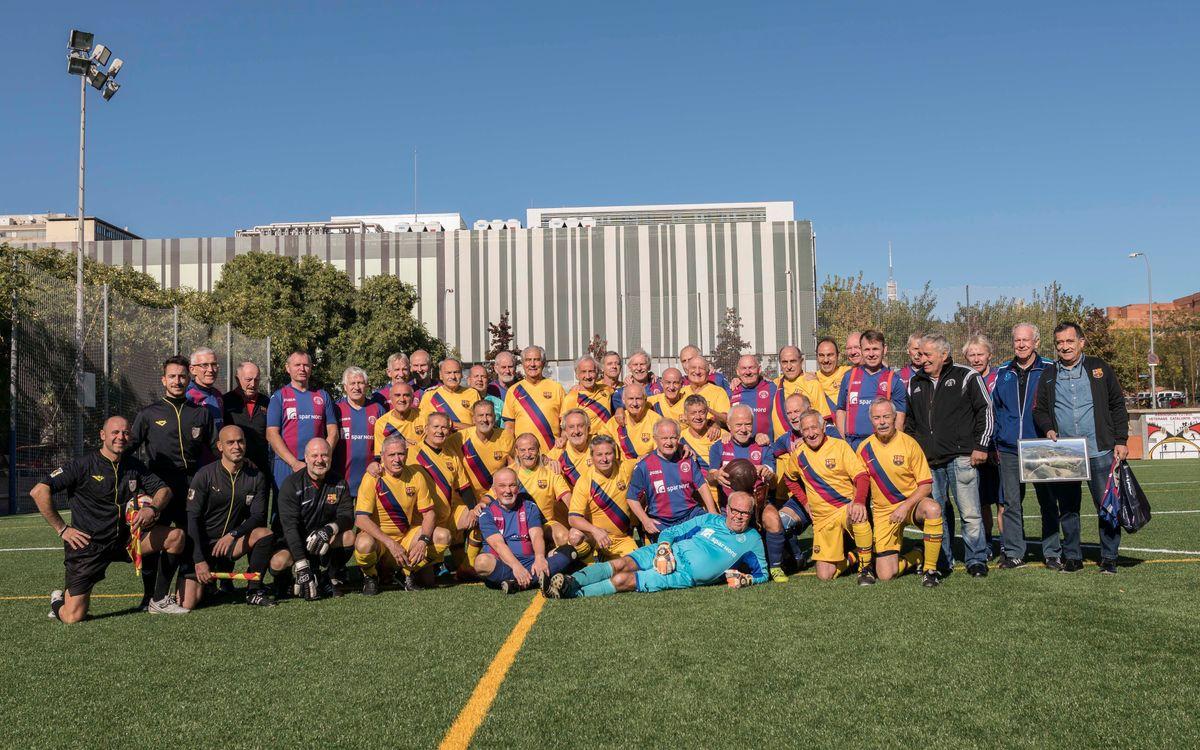 Els veterans del FC Thuro van visitar a l'equip +60 de l'ABJ
