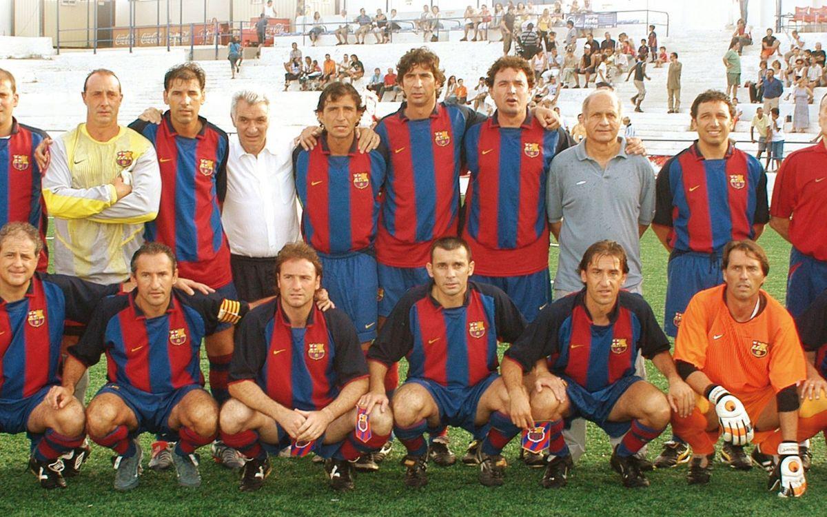 Partido de la Agrupación Barça Jugadores, en la época en que Josep Fusté era responsable del Área Deportiva. ABJ
