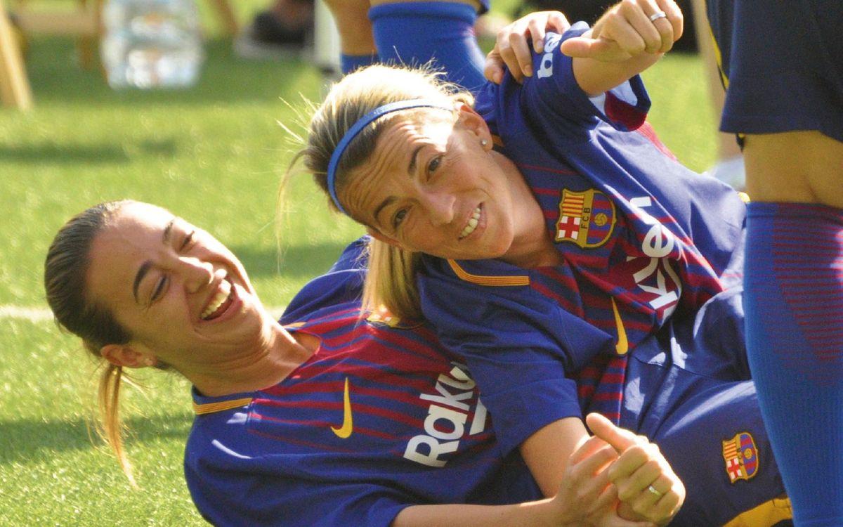 El equipo femenino de la Agrupación Barça Jugadores empezó su actividad en el 2017. ABJ