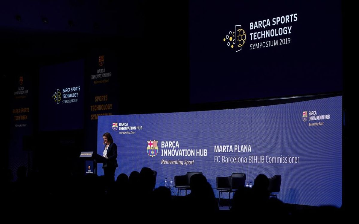 The project between the BIHUB and the Barcelona Supercomputing Center is presented at the 'Barça Sports Technology Symposium'
