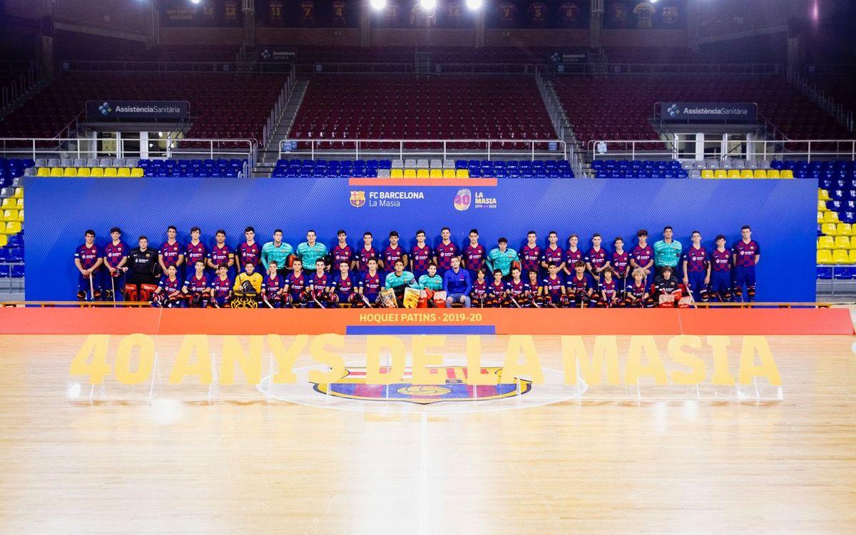 Presentación del Hockey Patines formativo del Barça