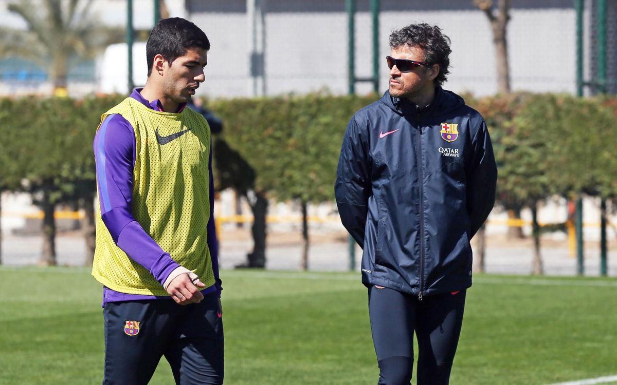 Luis Enrique fue el primer entrenador de Luis Suárez en el FC Barcelona