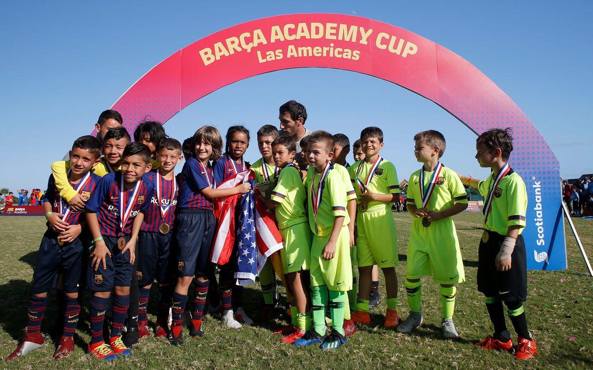 La Barça Academy Cup Las Américas más grande de la historia, con 600 deportistas