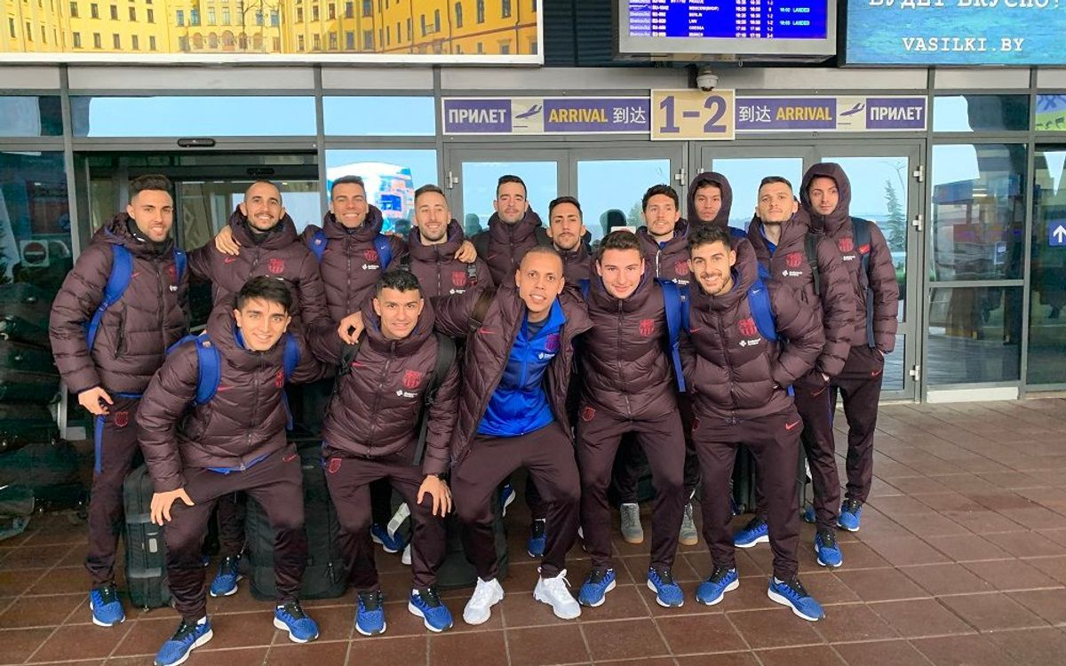 El Barça ja treballa a Minsk