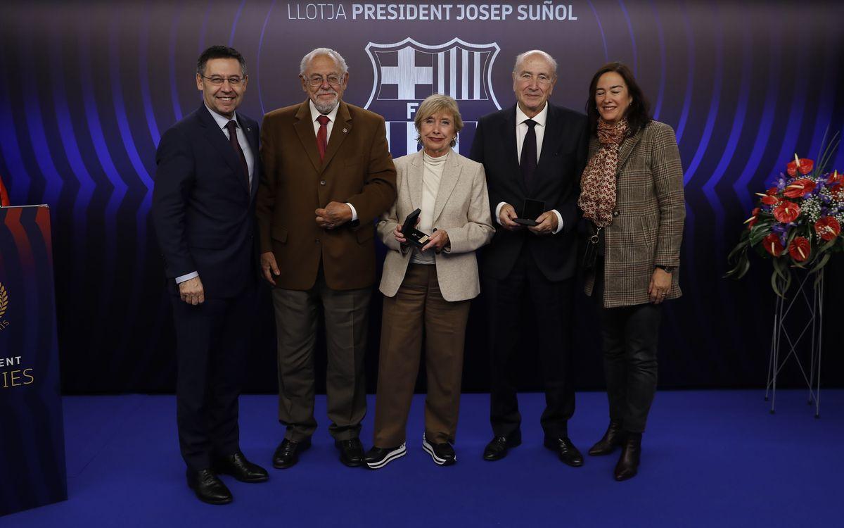 Insígnia d'or i brillants per una llarga vida de fidelitat al Barça