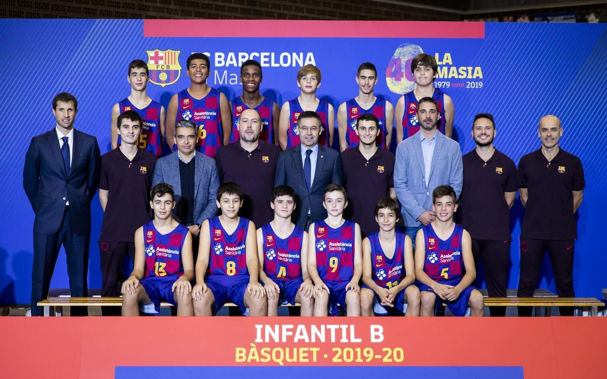 Plantilla Infantil B baloncesto 2019-20