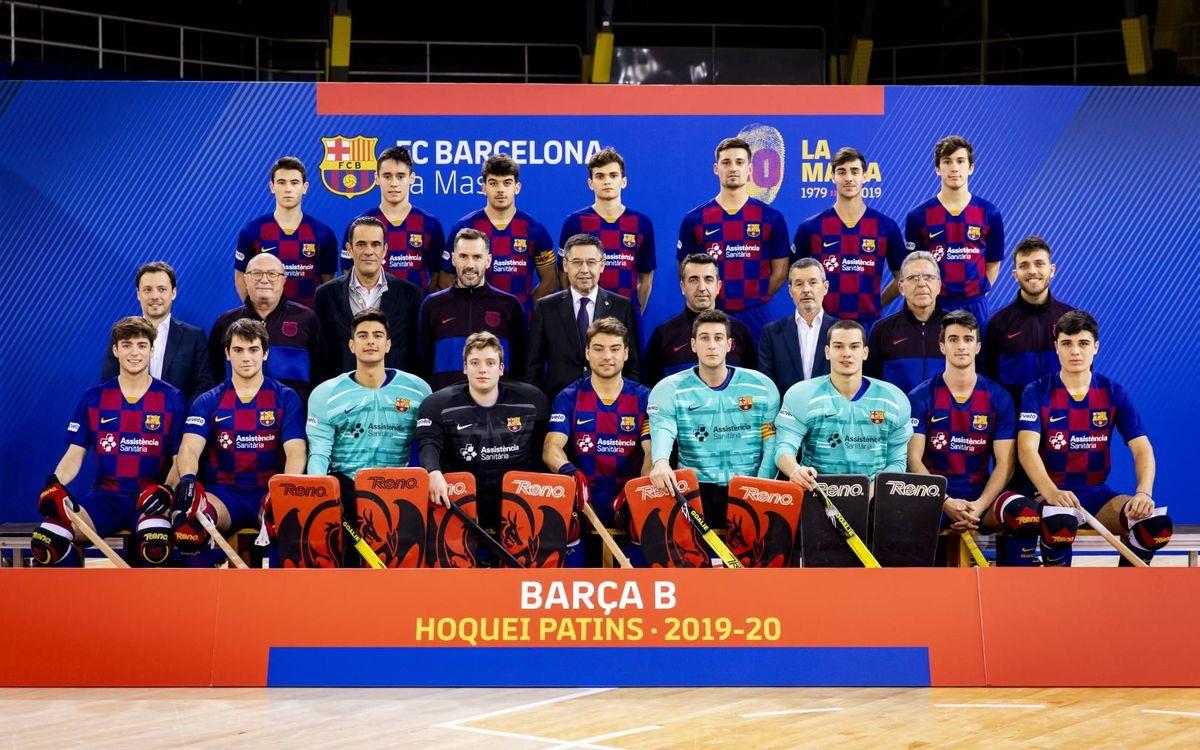 Plantilla Barça B hoquei patins 2019-20