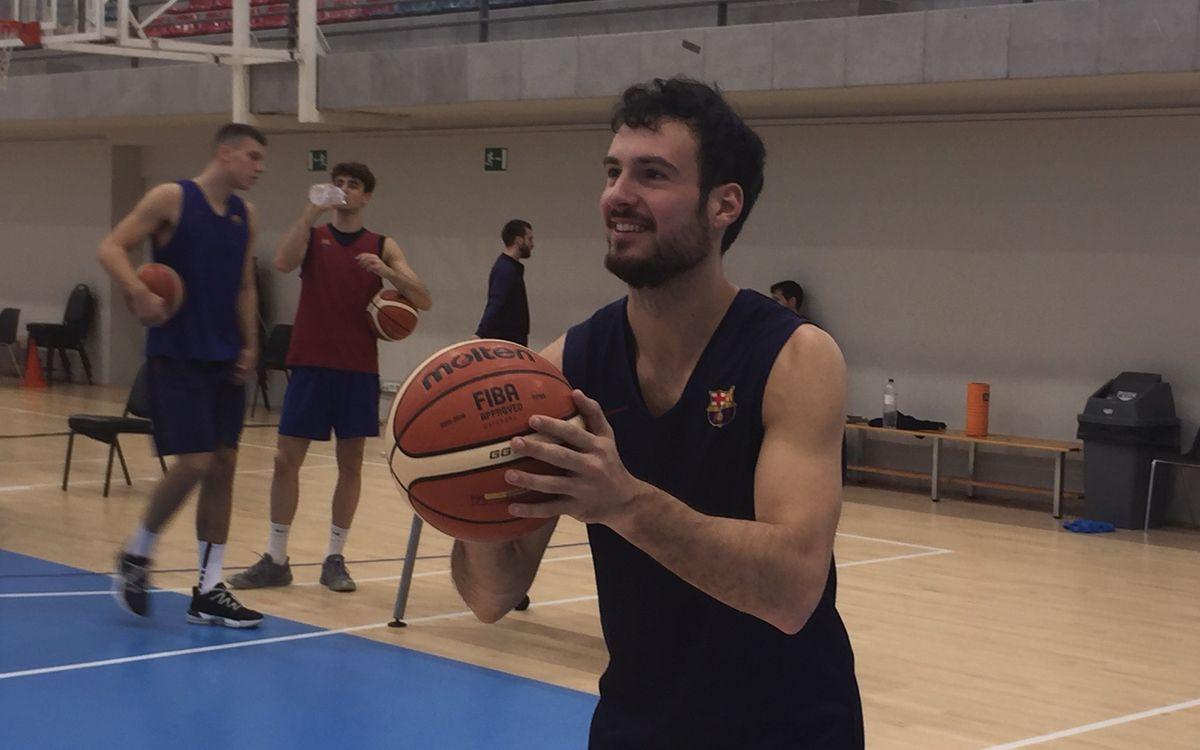 Lluís Costa, nou jugador del Barça B de bàsquet