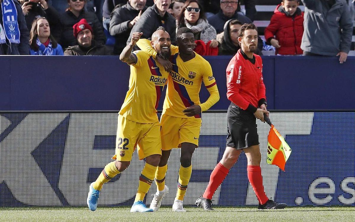 Leganés – Barça: Reacció de líder a Butarque (1-2)