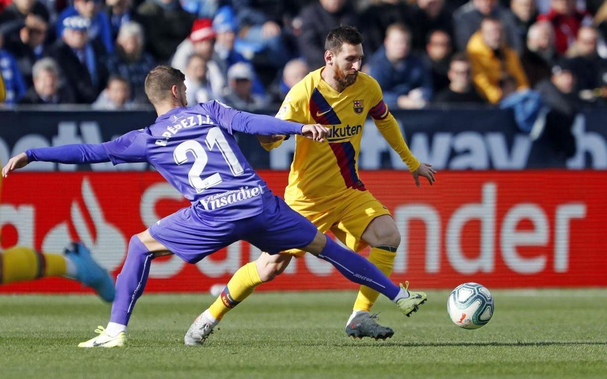Messi, en el partido de la primera vuelta de la actual liga no pudo marcar al elenco madrileño