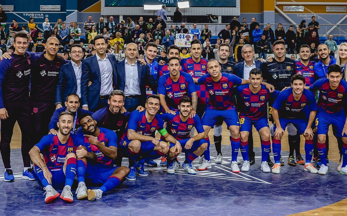 Barça - Minsk: Goleada trabajada para cerrar la Elite Round (6-1)