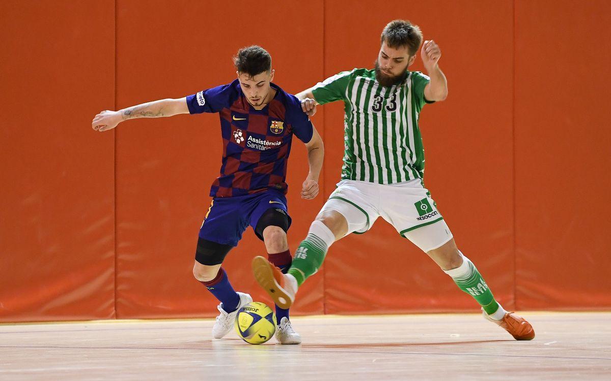 Barça B – Betis Futsal (2-2): Empat davant el líder