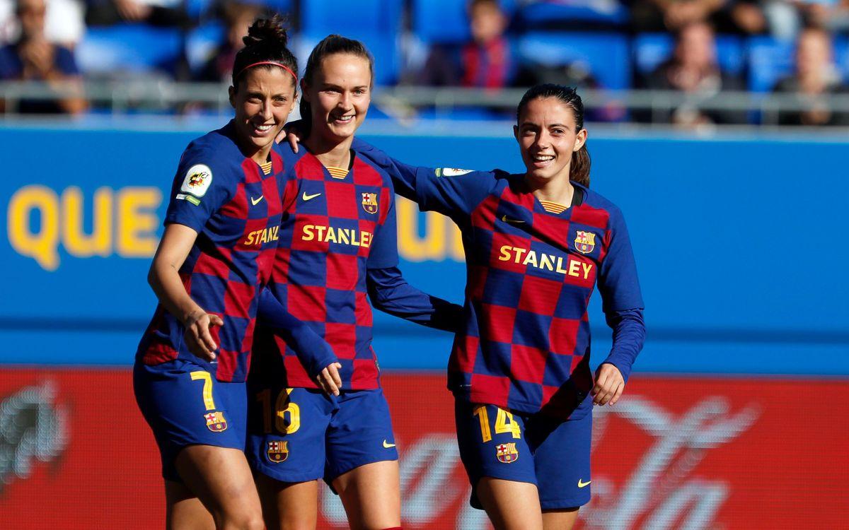 Barça Femenino – Deportivo: Goleada y décimo triunfo consecutivo (6-1)