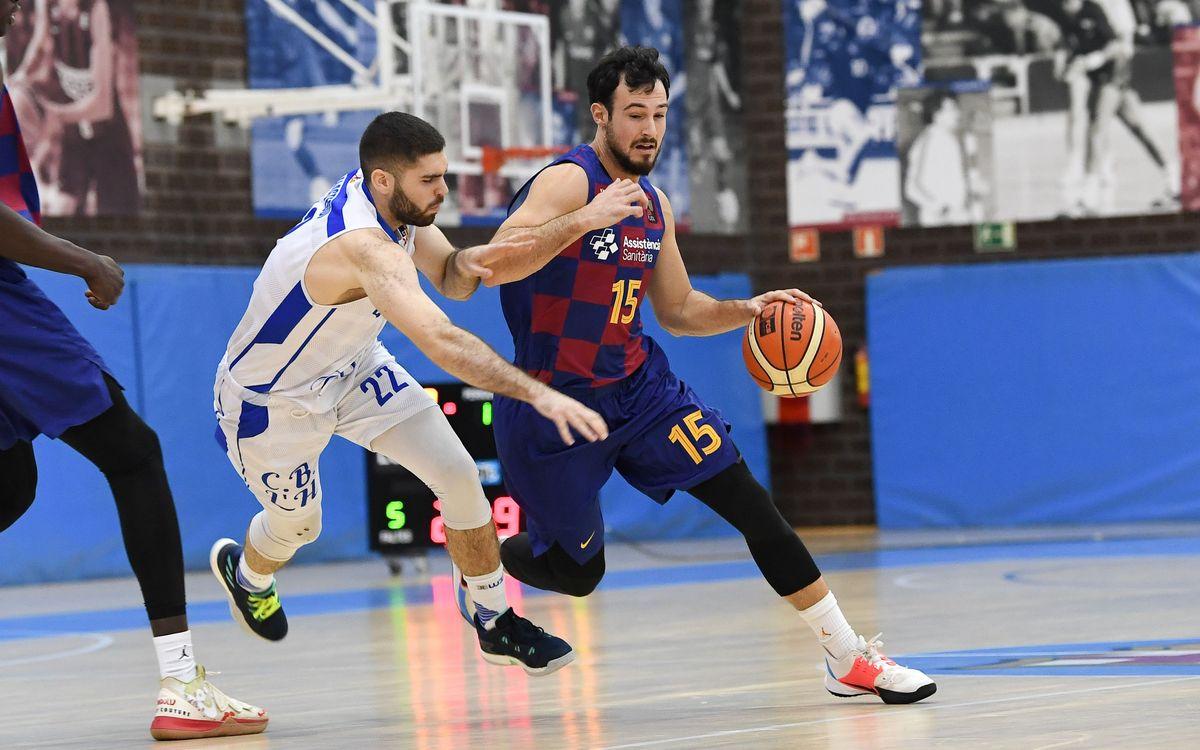 El Barça se hace fuerte desde la línea de tres y supera al Hospitalet