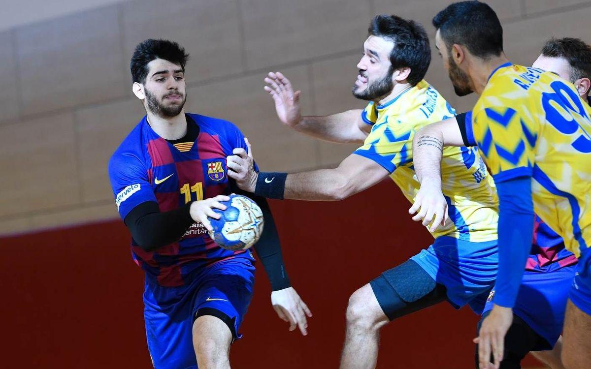 Barça B – UE Sarrià: Victòria de lluita i persistència (35-28)
