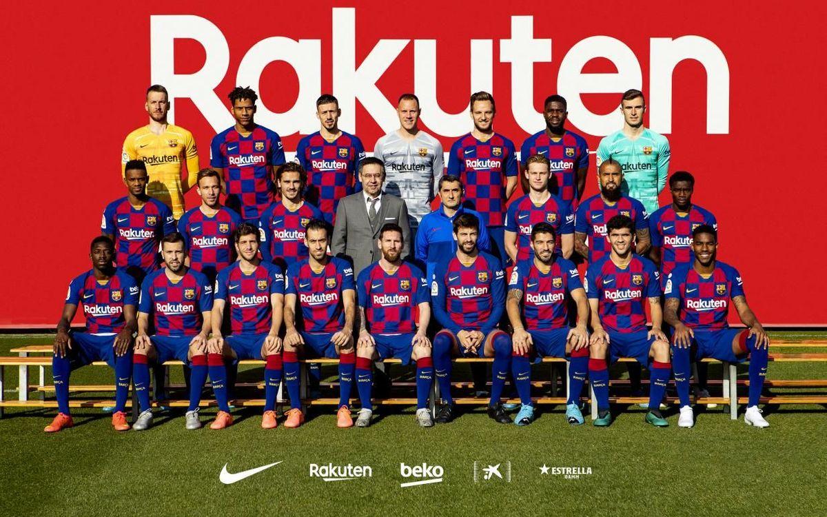 Foto oficial de l'equip masculí per a la temporada 2019/20.