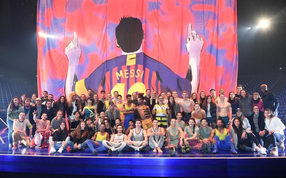 L'intercanvi de visites del Femení amb Messi10