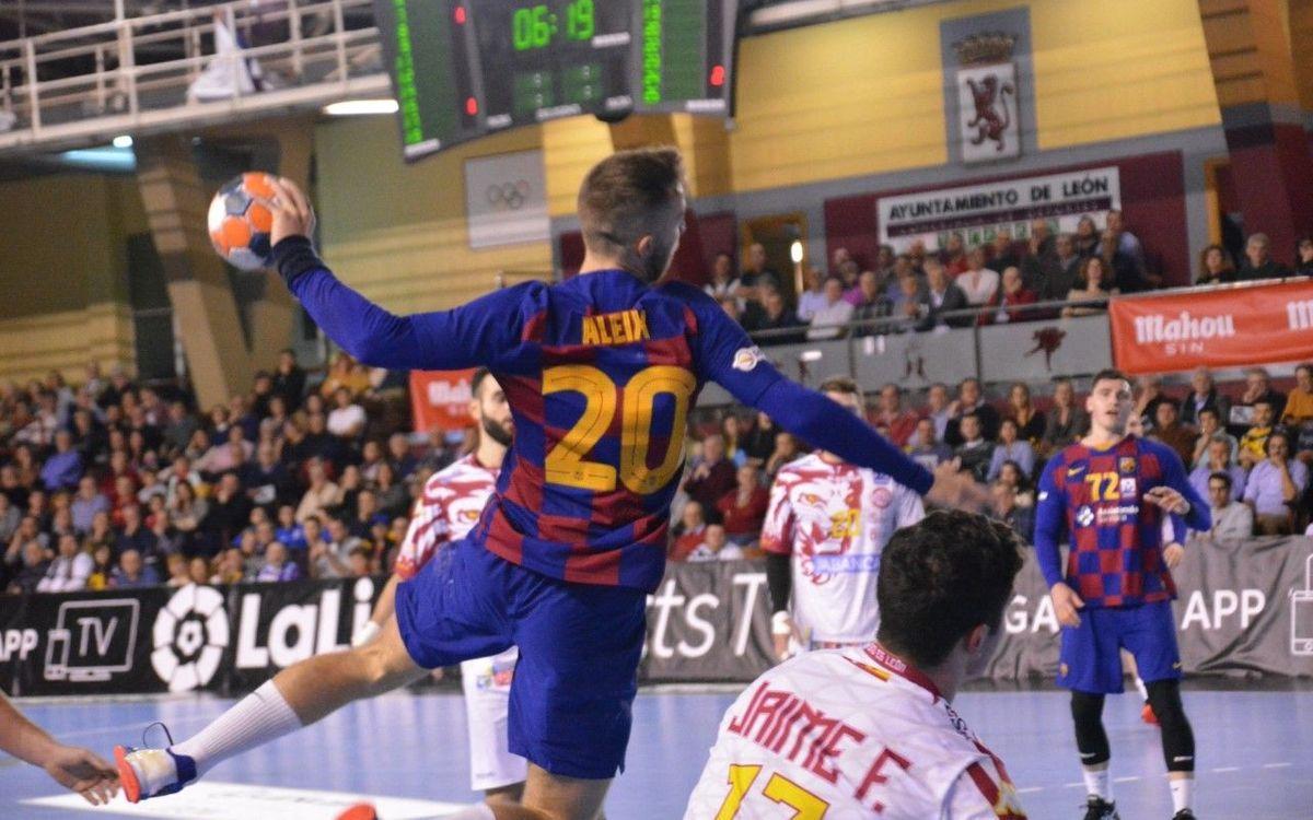 Abanca Ademar León - FC Barcelona: El líder mana amb autoritat (28-35)