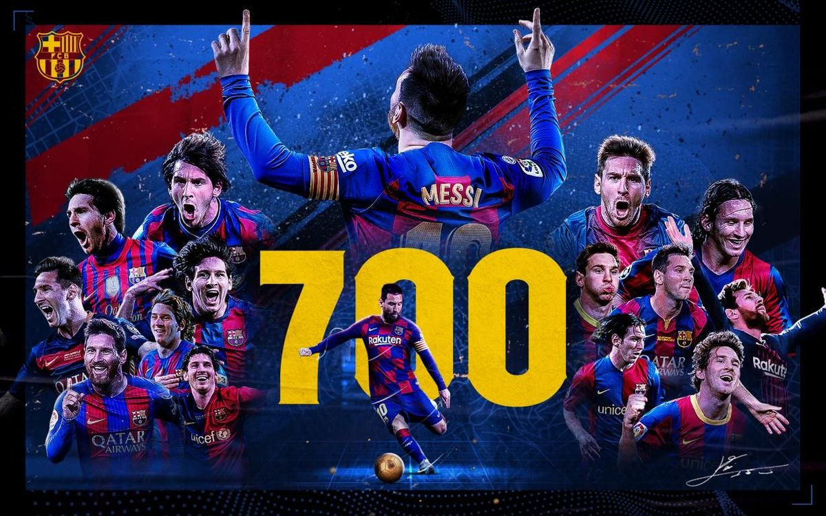 Leo Messi reaches 700 appearances for Barça