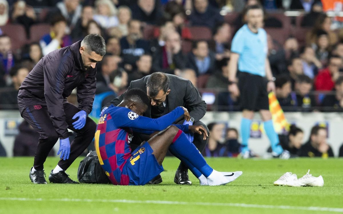 Dembélé with a thigh injury
