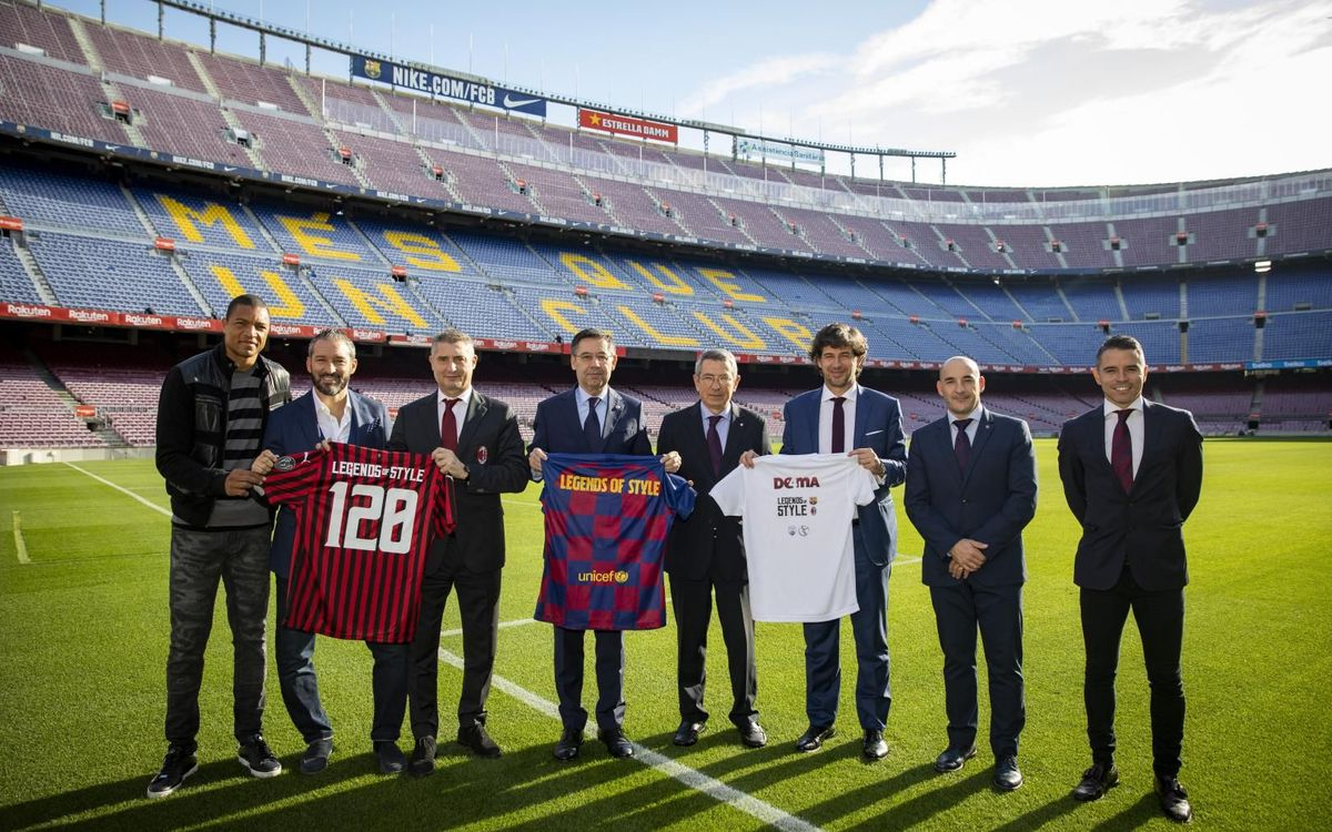 "Los Barça Legends y los Milan Glorie presentan su gira internacional ""Legends of style"""