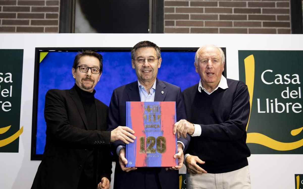 Presentació del llibre oficial del 120è aniversari del FC Barcelona