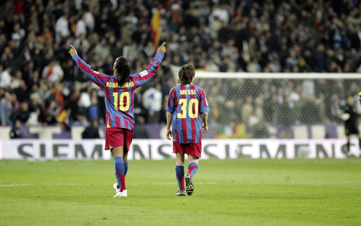 Ronaldinho y Messi, dos leyendas culés