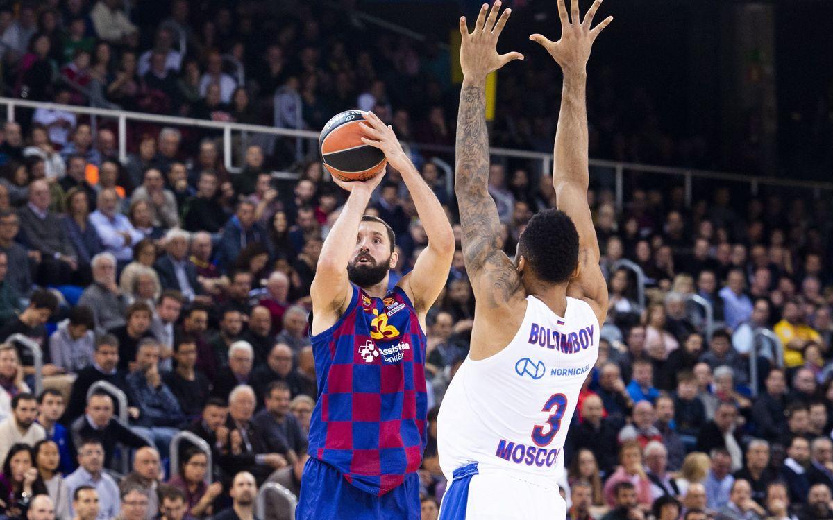 Barça - CSKA: Fin a la inexpugnabilidad del Palau (67-96)