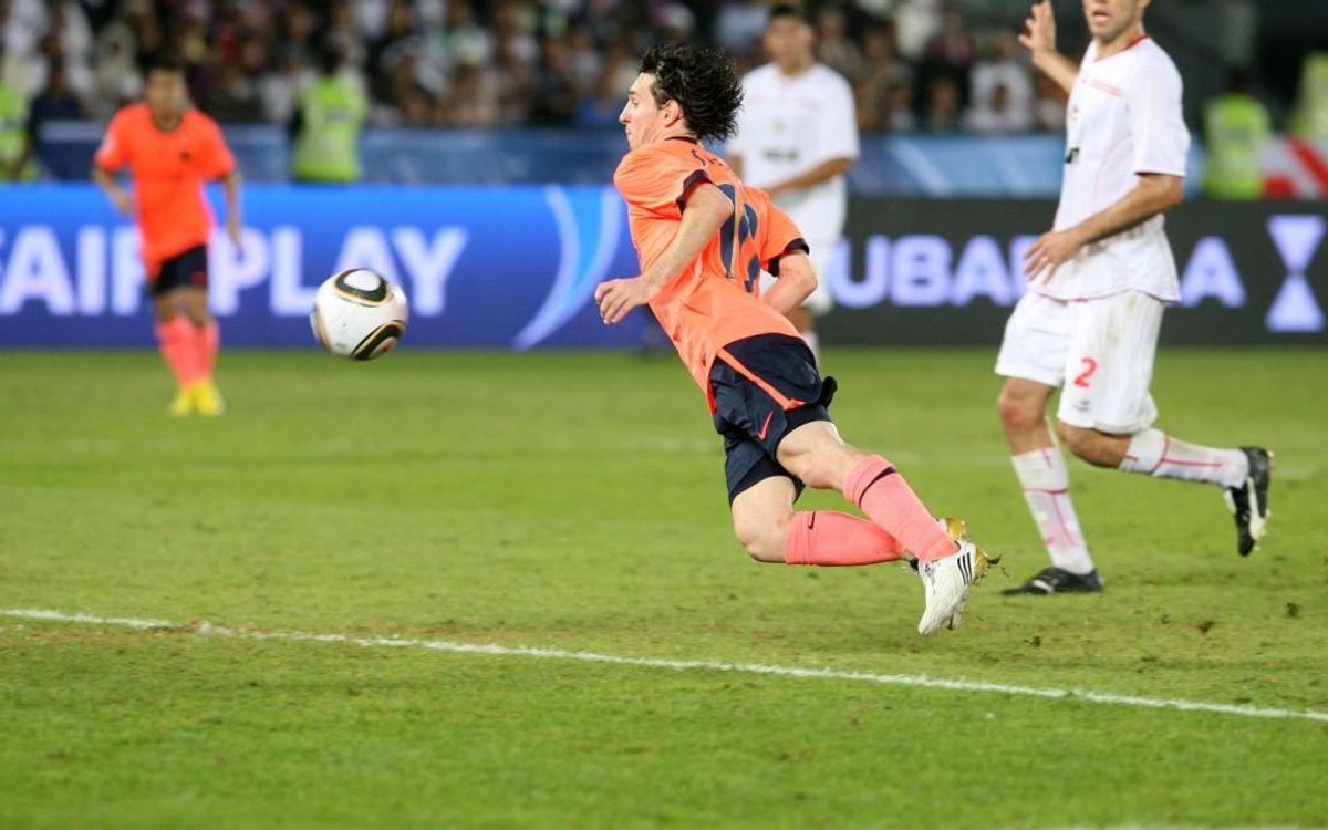 El gol de Messi a la pròrroga contra Estudiantes va atorgar el primer Mundial de Clubs de la història del Barça
