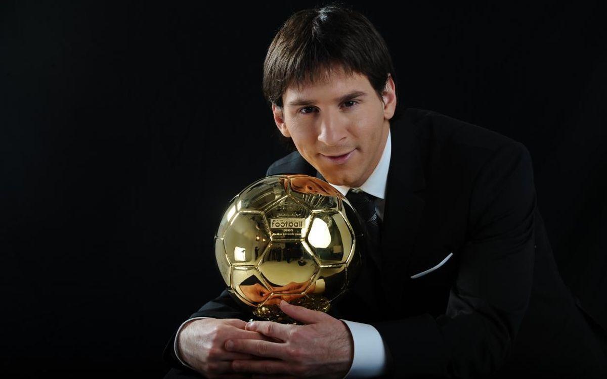 Deu anys de la primera Pilota d'Or de Leo Messi