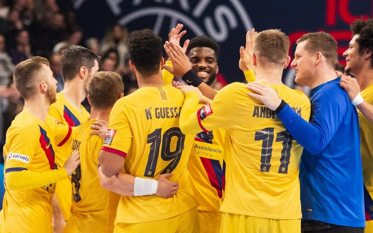 PSG 32-35 Barça: European leaders for New Year