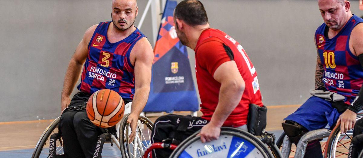 Victòria treballada del Barça de bàsquet en cadira de rodes