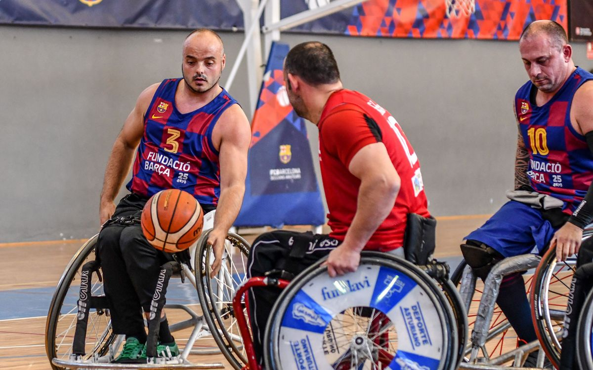 Victoria trabajada del Barça de baloncesto en silla de ruedas