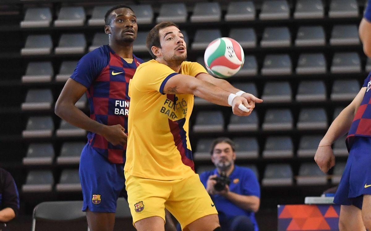 Novena victòria consecutiva del Barça Voleibol