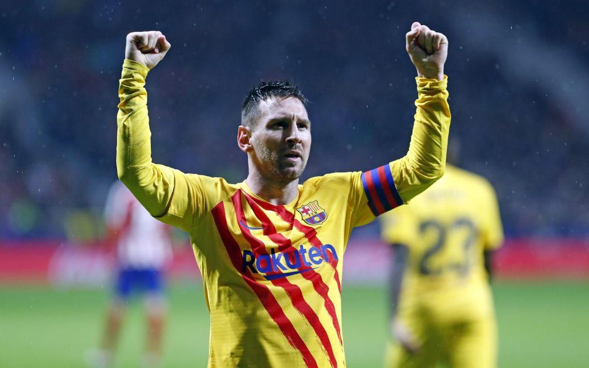 Atlètic de Madrid - FC Barcelona: Messi catapulta el líder (0-1)