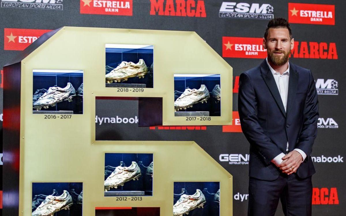 Nadie ha conseguido más Botas de Oro que Leo Messi (6)