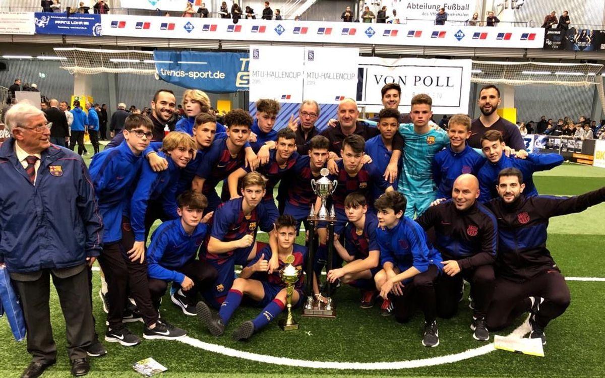 El Cadete B gana la MTU Hallen Cup en Alemania