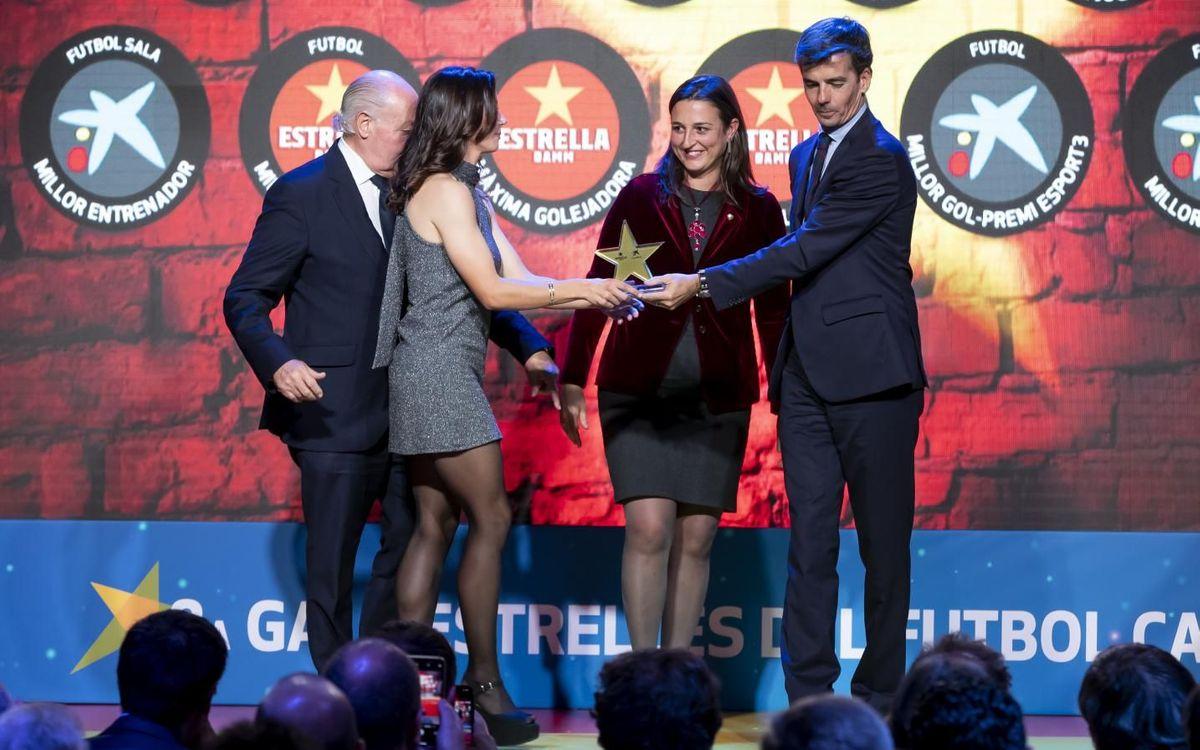 Aitana Bonmatí, recogiendo el premio