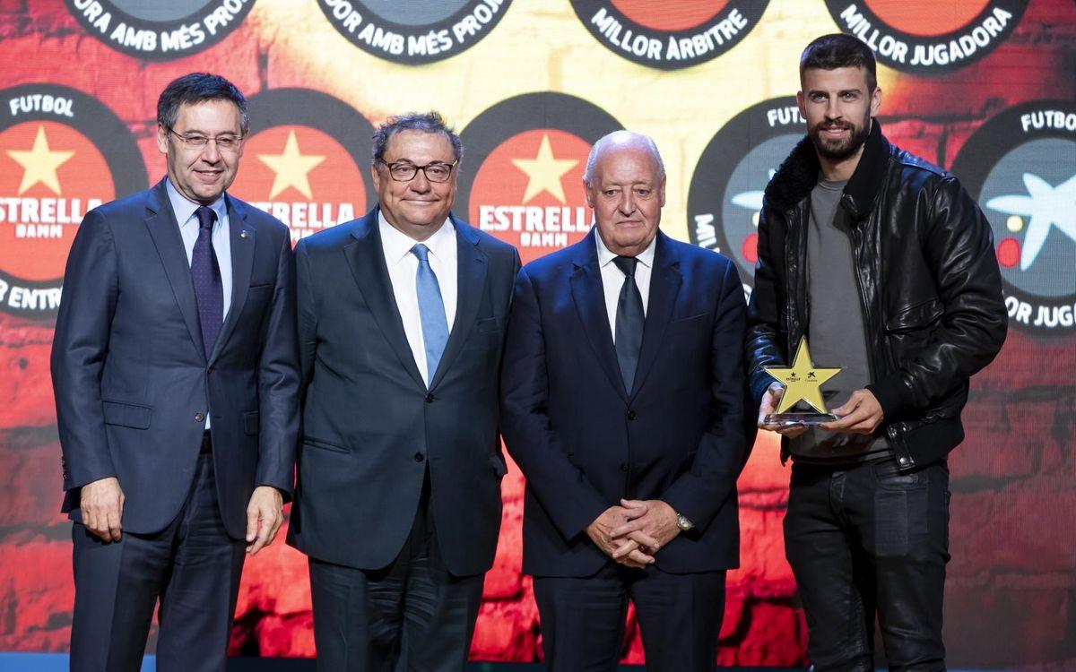 Piqué, millor jugador català de la temporada 2018/19