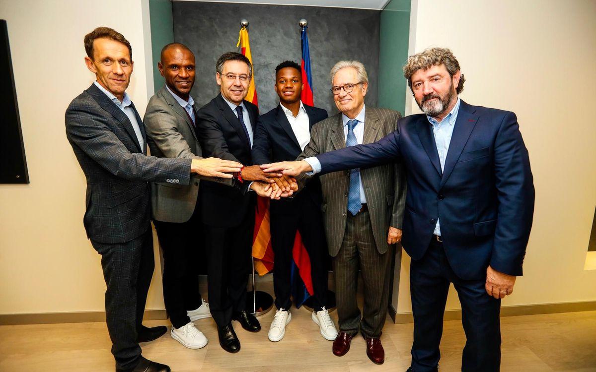 Ansu Fati ya ha renovado su contrato con el Barcelona (Foto: FCB).