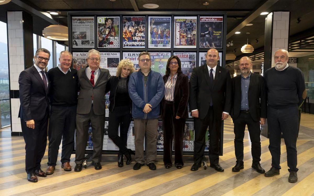 El Jurado del Premio Vázquez Montalbán de periodismo deportivo se reúne para elegir el ganador de la 14ª edición