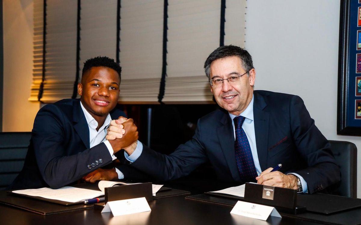El FC Barcelona millora el contracte i amplia la clàusula d'Ansu Fati