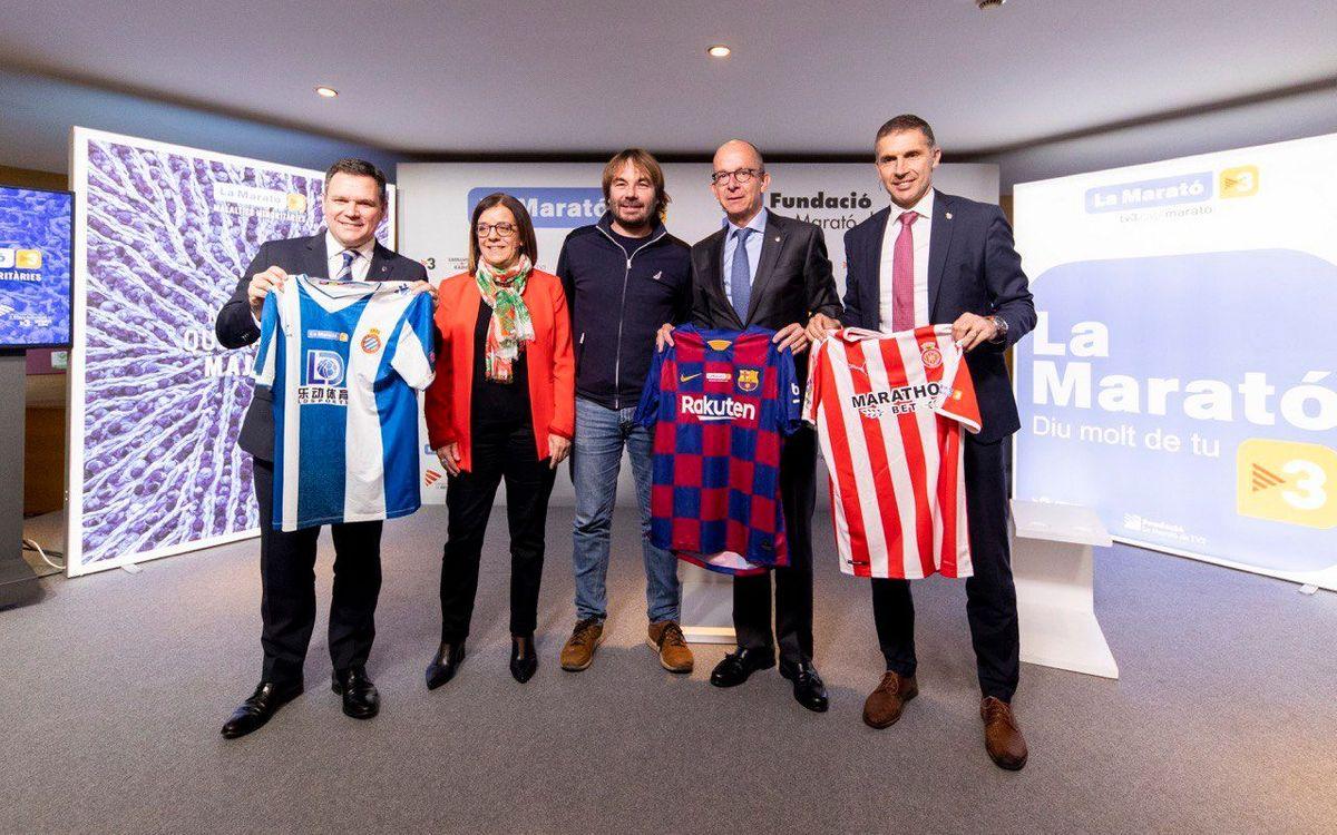 El Barça s'adhereix a la Marató