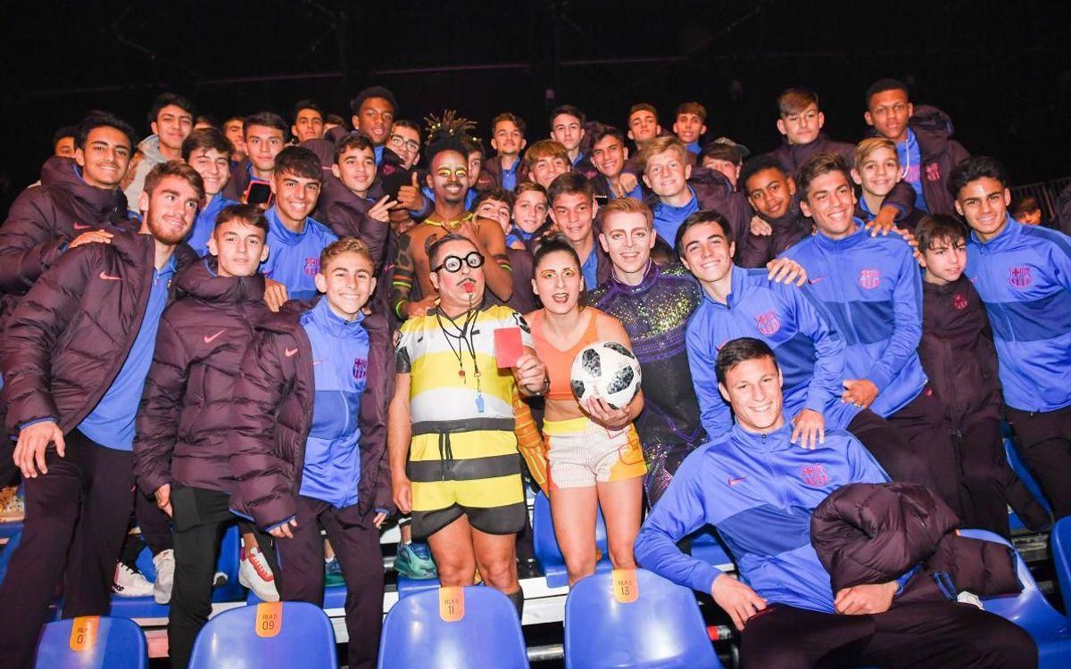 Así fue la visita de La Masia al Messi10 & Cirque du soleil
