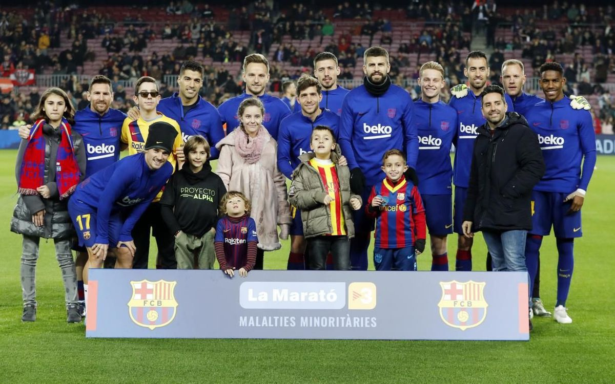El Barça s'implica novament amb la Marató de TV3, enguany dedicada a les malalties minoritàries