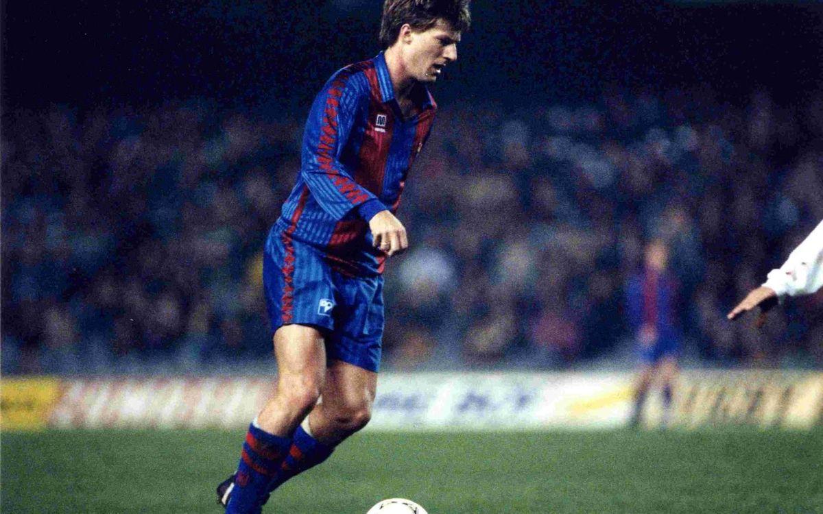 En 1994, Laudrup dejó el Barça y se marchó al Real Madrid