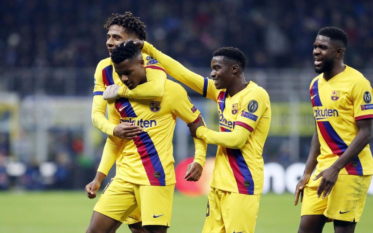 インテル・ミラン – FC バルセロナ: 記録と共に16強へ (1-2)