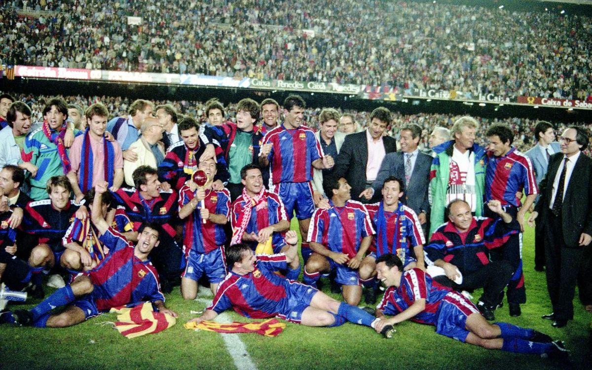 La celebració dels campions de Lliga